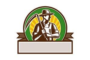 Organic Farmer Holding Scythe