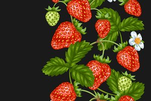 Patterns with red strawberries.