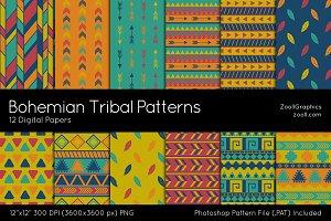 Bohemian Tribal Digital Papers