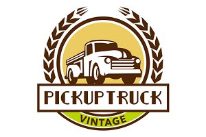 Vintage Pick Up Truck Circle Wreath