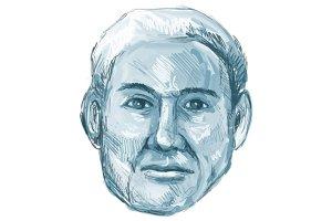 Blue Man Identikit Drawing