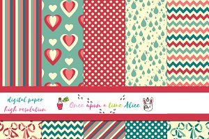 Cute Digital Paper for Scrapbooking