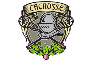 Knight Armor Lacrosse Stick Crest