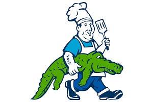 Chef Alligator Spatula Walking