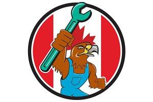 Hawk Mechanic Spanner Canada Flag