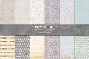 Dusty Shimmer Pastel & Foil Patterns