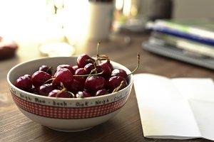 Cherries ripen