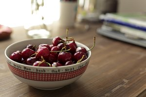 Cherries ripen