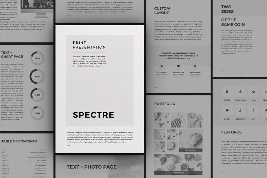 Spectre - Vertical Presentation ~ PowerPoint Templates