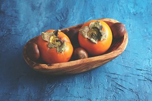 Persimmons and chestnuts