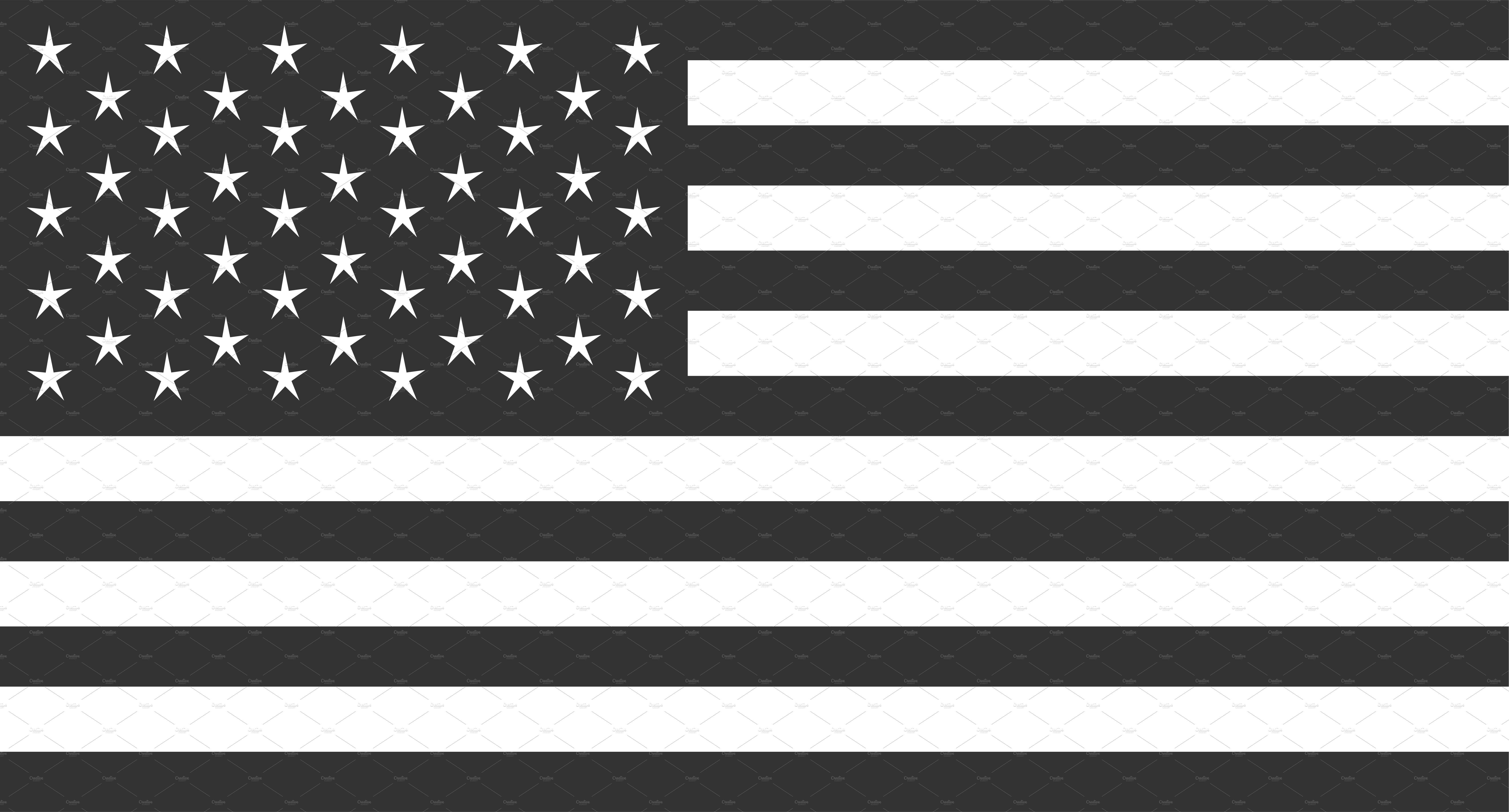 Usa Flag Vector American Flag Black Custom Designed