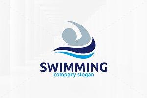 Swimming Logo Template