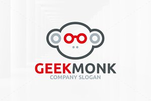 Geek Monkey Logo Template