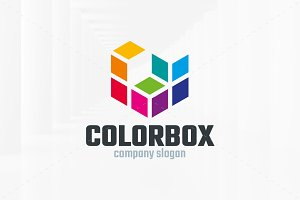 Color Box Logo Template