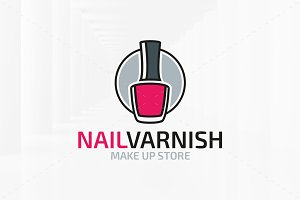 Nail Varnish Logo Template