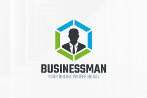 Business Man Logo Template