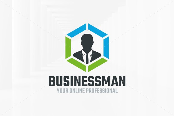 Business man logo template logo templates creative market business man logo template logos flashek Images