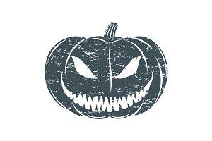 Grunge Halloween pumpkin.