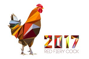 Cock - Rooster, symbol of New 2017