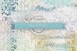 GeoGrit Vol. 01 Photoshop Brushes