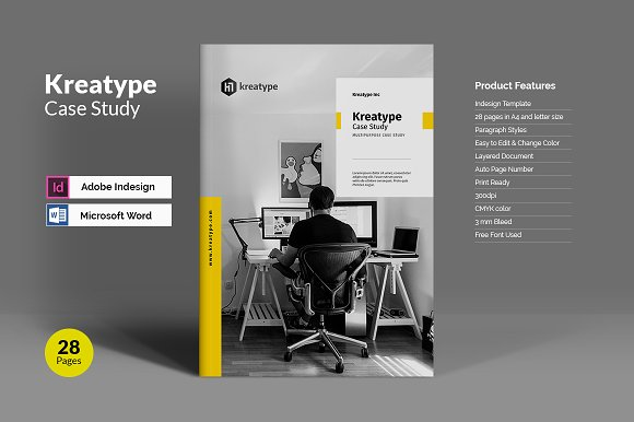 Kreatype case study brochure templates creative market kreatype case study brochures maxwellsz