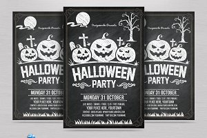 Halloween Chalk Flyer