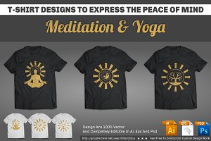 Meditation & Yoga T-Shirt Designs