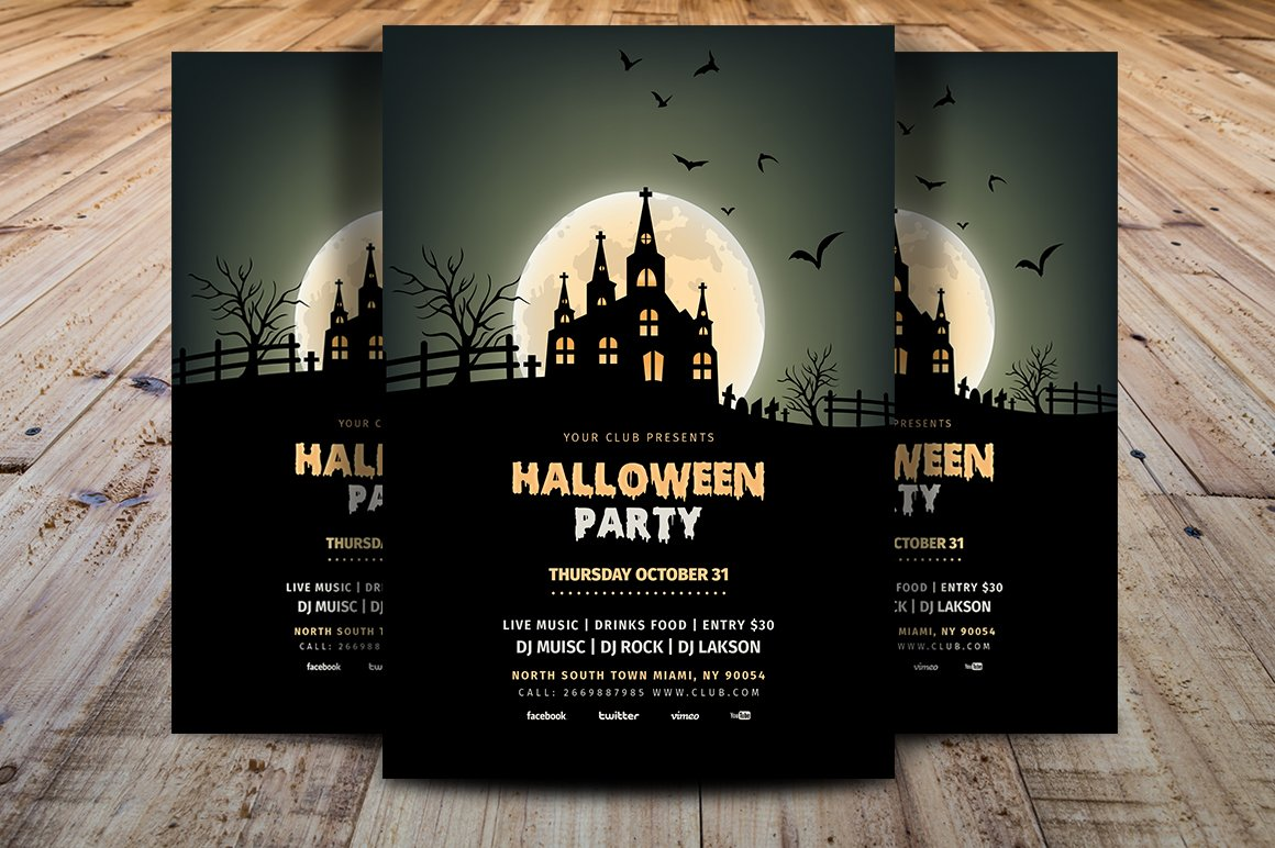 Halloween Party Flyer Template V1 ~ Flyer Templates ~ Creative Market