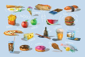 Vector set of food icons