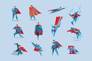 Vector superman icons