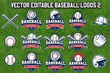 Vector Editable Baseball Logos 2
