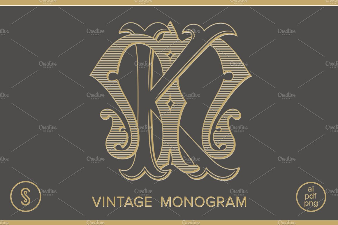 Km Monogram Mk Monogram Creative Daddy