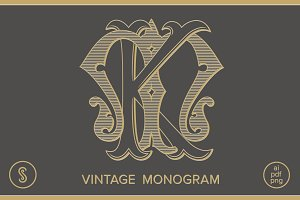 KM Monogram MK Monogram