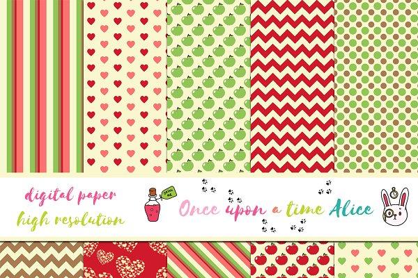 Cute Unicorn Theme Digital Papers ~ Graphic Patterns ~ Creative Market
