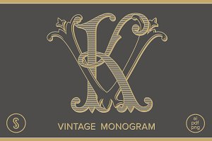 KV Monogram VK Monogram