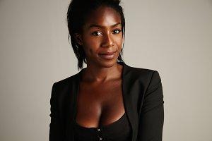 black african american woman