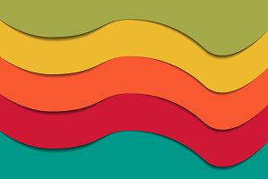 background multicolored waves