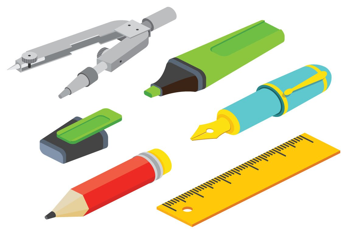 21 isometric drawing tools illustrations creative market