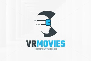 VR Movies Logo Template