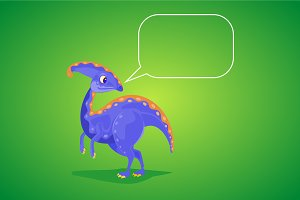 Dinosaur with speech bubble