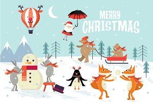 christmas greetings template vector