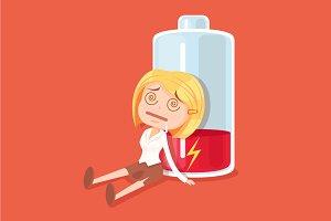 Businesswoman no energy