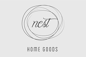 Simple Nest / Home Good Logo