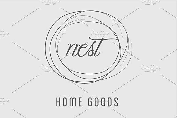 Simple Nest / Home Good Logo