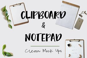 Clipboard and Notepad Clean Mock Ups