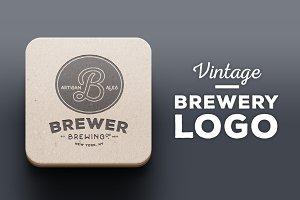 Brewery / Beer Logo I, Vintage