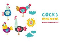 Cocks illustration 2017