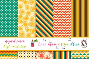 Cute set of Digital Paper