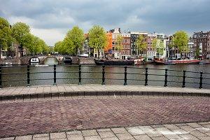 Amsterdam Cityscape From The Bridge