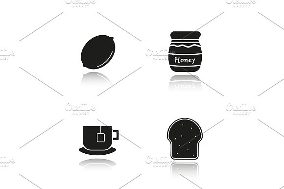 Breakfast. 4 icons. Vector - Icons